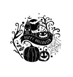 Art card for happy halloweendesign template vector