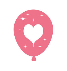 balloon helium floating with heart vector image