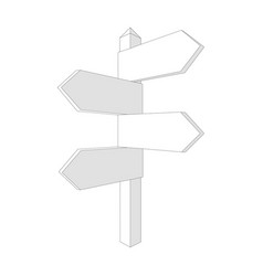 blank direction signpost sign arrow icon vector image