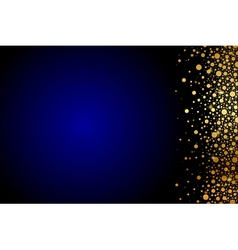 Blue background with gold confetti vector