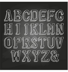 Capital letters on chalkboard vector