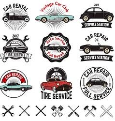 Car repair service labels vector image vector image