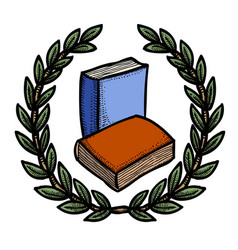 Cartoon image of book icon education symbol vector