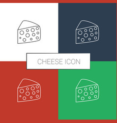 Cheese icon white background vector