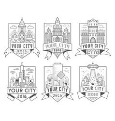 City badges 1 vector
