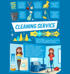 Cleaning service and household work infographics vector