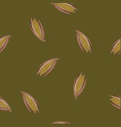 Coloured corn seamless green pattern vector