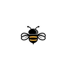 Creative bee logo vector