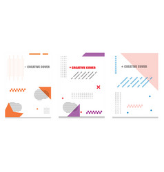 creative cover design geometric background vector image