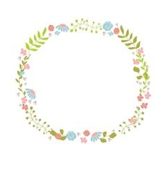 Cute floral wreath Design for birthday card or vector