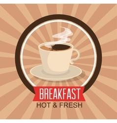 Delicious coffee break icon vector