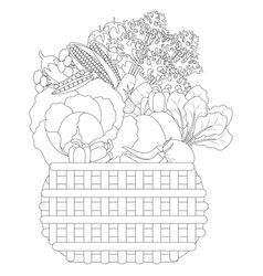 doodle vegetables in a vector image