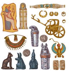 Egyptian ancient sarcophagus pharaoh vector