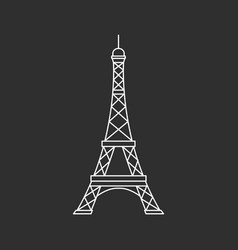eiffel tower illutsration vector image