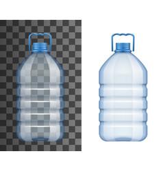 empty plastic water bottle mockup isolated icon vector image