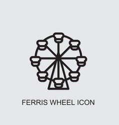 Ferris wheel icon vector