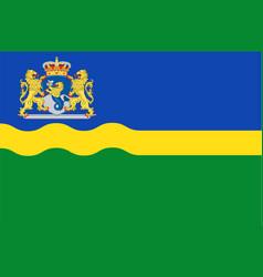 flag of flevoland of netherlands vector image vector image