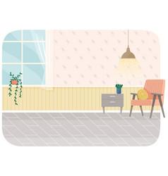 Flat design interior planning and arrangement vector