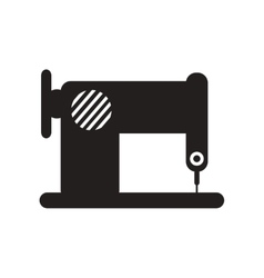Flat icon in black and white style sewing machine vector