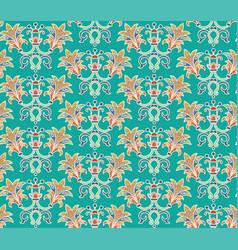 Floral patten in oriental style vector