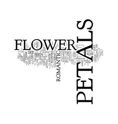Flower petals text background word cloud concept vector