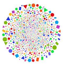 Geometric figures twirl exploding globula vector
