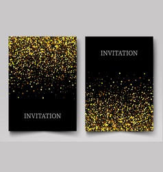 gold banners greeting card or flyers design vector image