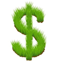 grass dollar sign vector image
