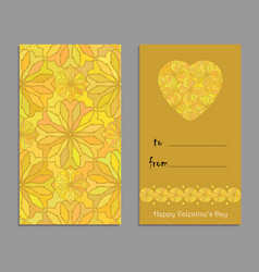 Greeting card template to valentines day vector
