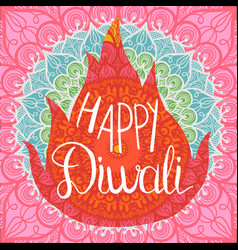 happy diwali celebration banner vector image
