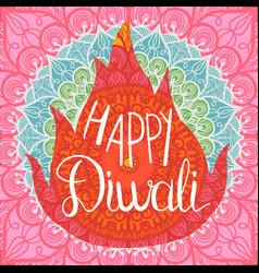 Happy diwali celebration banner vector