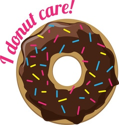 I Donut Care vector
