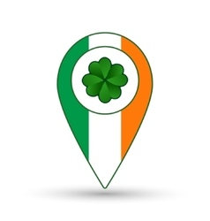 Ireland flag location icon vector