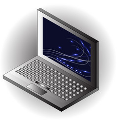 isometric notebook laptop template vector image