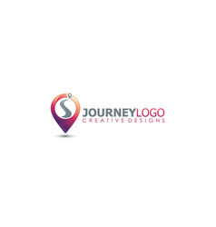 Journey trip point travel maps distance logo vector