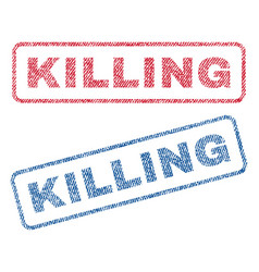 killing textile stamps vector image