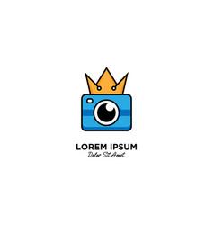 King camera logo icon vector