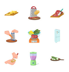 Kitchen appliances everything and other web icon vector