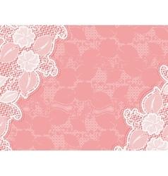 Lace invitation design template sample wedding vector