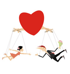 Love couples concept isolated vector