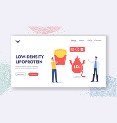 low density lipoprotein landing page template vector image