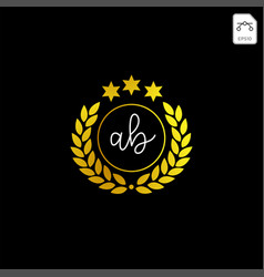 Luxury ab initial logo or symbol business company vector