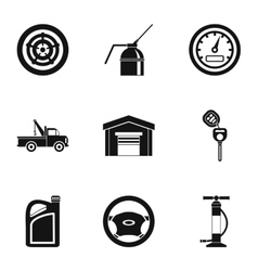 Maintenance car icons set simple style vector