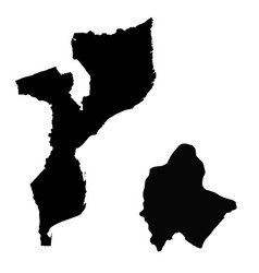 Map mozambique and maputo country and capital vector