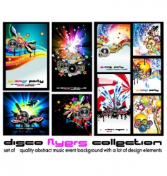 Music discotheque background vector
