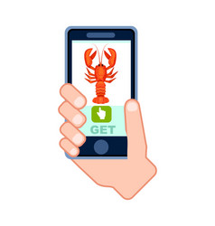natural seafood delivery service icon vector image
