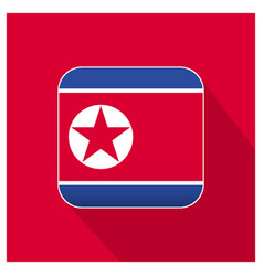 North korea flag design vector
