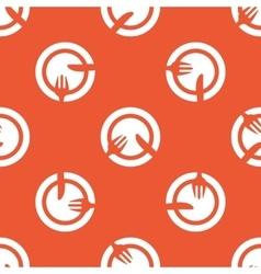 Orange tableware pattern vector