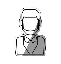 People faceless and business vector