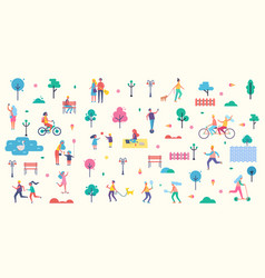 People park icons collection vector
